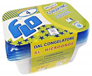 FLO Contenit.plast.freezer-forno X 4 pz. flo - Vaschette per alimenti