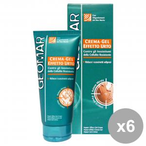 Set 6 GEOMAR Anticellulite Crema Gel Effetto URTO 200 Ml. Cura del corpo