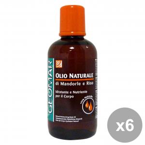 Set 6 GEOMAR olio NATURALe Idratante E Nutriente 250 Ml. Cura del corpo