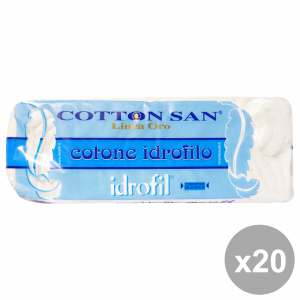 Set 20 IDROFIL Cotone 100 Gr. Disinfettanti e igienizzanti