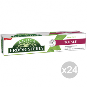 Set 24 ANTICA ERBORISTERIA Dentifricio 75 Ml Totale Salvia/Menta Cura E Igiene Dentale