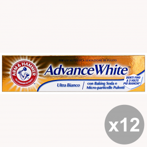 Set 12 ARM & HAMMER Dentifricio ADVANCE WHITE Ultra Bianco 75 Ml. Prodotti per il viso