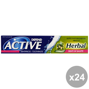 Set 24 DEFEND Dentifricio ACTIVE HERBAL 75 Ml. Prodotti per il viso