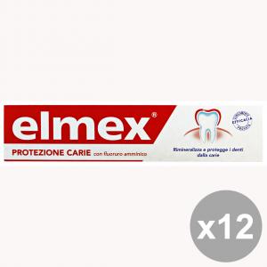 Set 12 ELMEX Dentifricio Protezione CARIE 75 Ml. Prodotti per il viso