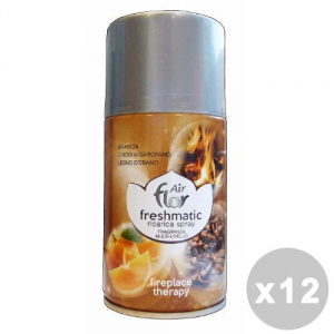 AIR FLOR Set 12 AIR FLOR Ricarica 250 ml. fireplace therapy deodorante casa