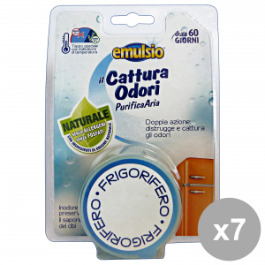 Set 7 EMULSIO Cattura Odori Frigo Deodoranti  Candele e Profumatori