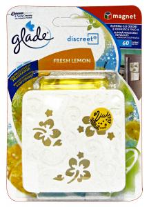GLADE Discreet Magnet Base Fresh Lemon Candele E Profumatori