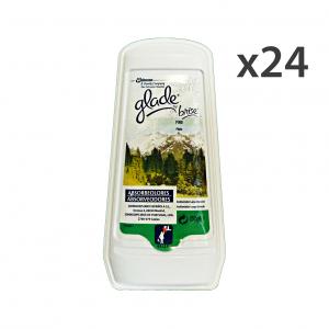 Set 12 GLADE assorbiodori gel pino 150 gr. candele e profumatori