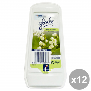 Set 8 GLADE assorbiodori gel mughetto di bosco 150 gr. candele e profumatori