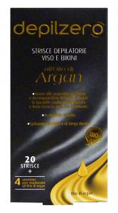 DEPILZERO Argan Strisce Viso-Bikini X 20 Pezzi Cura del corpo