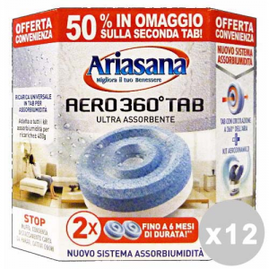 ARIASANA Set 12 ARIASANA Ricarica pastiglie 450 gr. *2 pz. aero 360┬░
