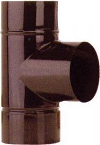 T deviazione Ø 120 mm marrone per stufa stufe tubo canna fumaria