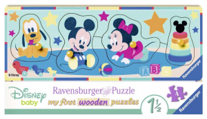 RAVENSBURGER My First Wooden Puzzle 4 5 Pezzi Disney Baby Puzzle Incastro 622