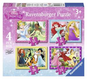 RAVENSBURGER Puzzle 4 In A Box Princesse Disney Puzzle Giocattolo 724