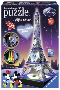 RAVENSBURGER Puzzle 3D Disney Torre Eiffel Night Edition Puzzeleball 3D Puzzle 941
