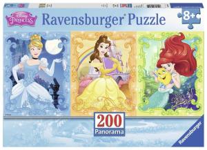 RAVENSBURGER Puzzle 200 Pezzi Xxl Principesse Disney Panorama Puzzle Giocattolo 159