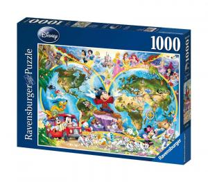 RAVENSBURGER Puzzle 1000 Pezzi Disney Mappamondo Disney Puzzle Giocattolo 601