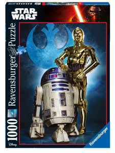 RAVENSBURGER Puzzle 1000 Pezzi Disney Star Wars Ultimate Collection R2/D2&C/3 869