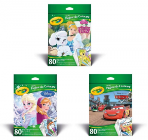 CRAYOLA Mini Pagine Da Colorare Disney Assortitote Frozen Cars Princess Iva 629