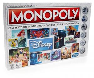 HASBRO Walt Disney Animation Monopoly Dama / Scacchi Tria Gioco Da Tavolo 881