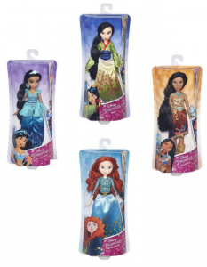 HASBRO Disney Princess Shimmer Fashion Doll Ast 3 Bambola Gioco Femmina Bambina 753