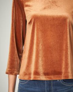 Blusa in velluto bronzo
