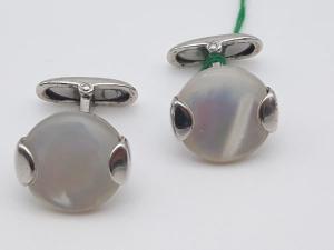 Gemelli in argento 925 e madreperla vendita on line | Gioielleria Bruni Imperia