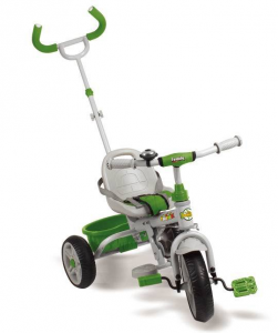 Triciclo Metallo Con Manico Sterzante Verde Triciclo Gioco Bambino Bambina Gioca 659