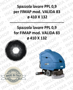 VALIDA 83 B - E spazzola lavare PPL 0,9 per lavapavimenti FIMAP
