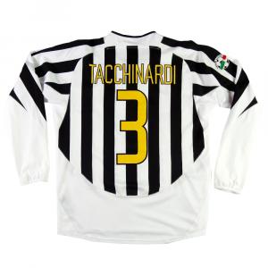 2003-04 Juventus Maglia Home Match Worn #3 Tacchinardi
