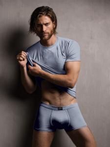 T-shirt uomo in modal ottenuto dalle fibre del faggio colore perla. Zenzero'