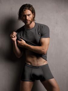 T-shirt uomo in modal ottenuto dalle fibre del faggio, colore piombo. Zenzero'