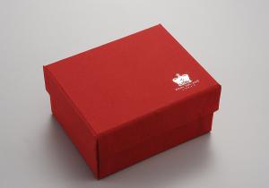 Scatola rossa cm.11x11x7h