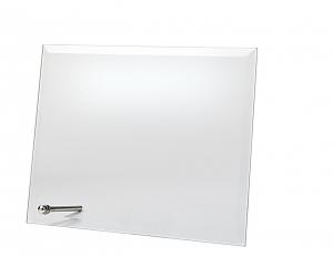 Targa in vetro rettangolare con supporto cm.17x13