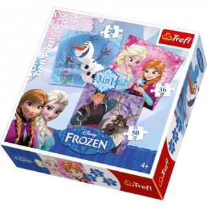 Puzzle Frozen 3 in 1