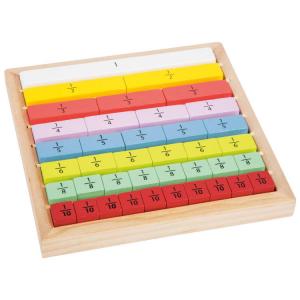 Calcolo delle frazioni Gioco didattico legno Educate Certificato FSC