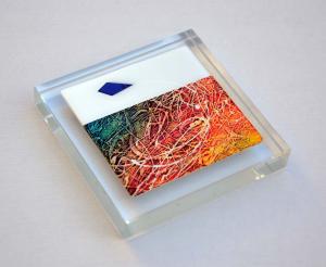 Bastianelli Gianluca, Fermacarte in cristallo, form. cm 10x10