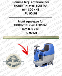 ECOSTAR Front Squeegee Rubber for Scrubber Dryer FIORENTINI