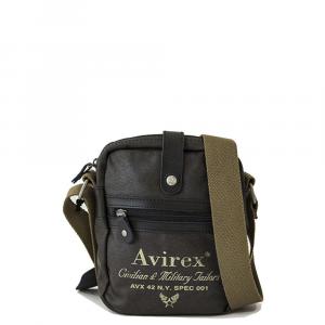 Avirex - Alifax - Borsa a tracolla unisex in canvas 1 scomparto marrone cod. A10