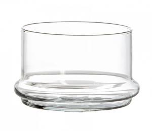 Piattino alto Contenitore in vetro per Dolci Frutta Confetti cm.7,2h diam.10,3