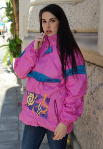 GIACCA VINTAGE K-WAY WINDBREAKER ANNI 90 MULTICOLOR