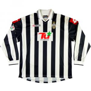 2001-02 JUVENTUS MAGLIA home MATCH WORN Coppa Italia #14 Zenoni XL Autografata