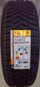 Ruota con pneumatico invernale Pirelli 215/60R16 99H FIAT 500X