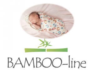 Favi -  Bamboo-line - swaddle/mussola di bamboo 100 % - telo multiuso - blu