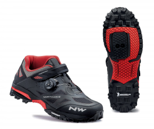NORTHWAVE Man MTB all mountain shoes ENDURO MID black/red