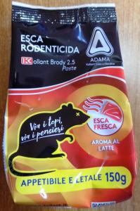Esca Rodenticida Kollant  GR 150 Gusto Latte