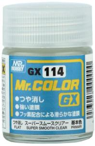 Trasparente opaco ( super  opacitià omogenea , non altera  il colore di base  ) GX Super Smooth Clear Flat 18ml