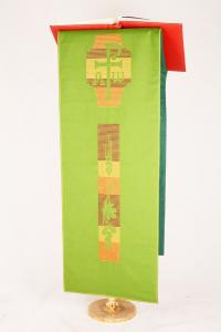 Copri Ambone 10A MB Uva e Spighe - Verde - 50 x 260 cm