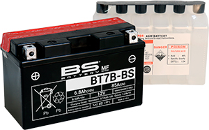 BATTERIA BS BT7B-BS CON ACIDO PER MOTO SCOOTER  246610155