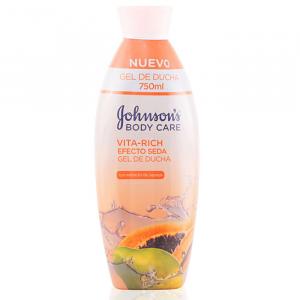 Johnsons Vita Rich Effetto Seta Papaia Lozione Gel Doccia 750ml